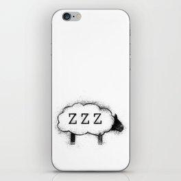 ZZZ Sheep - Distressed iPhone Skin