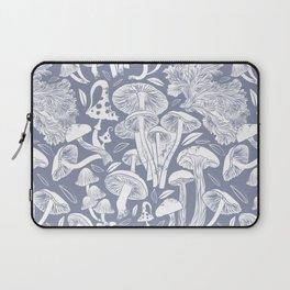 Delicious Autumn botanical poison IV // blue grey background Laptop Sleeve