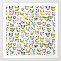 kittens Art Prints featuring Kittens by Elisa MacDougall