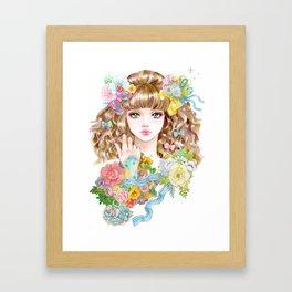 Lara-flower girl Framed Art Print