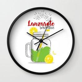 Fresh fruity drink in Lanzarote, Spain Wall Clock