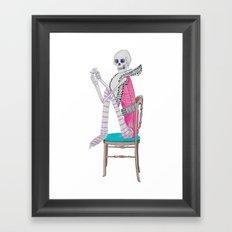 circus skeleton Framed Art Print