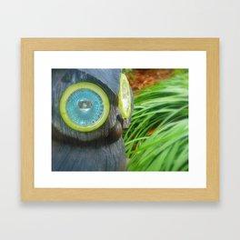 Owl Surveying Framed Art Print