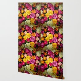 Real roses pattern Wallpaper