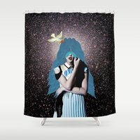 lsd Shower Curtains featuring LSD by Mrs Araneae