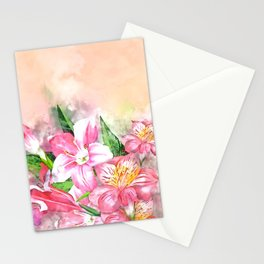Holding Closely #floral #society6 #watercolor Stationery Cards