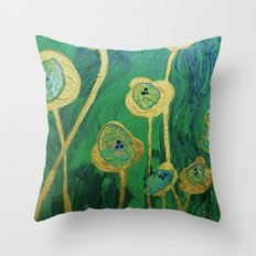 Lotus Blossoms in the Swamp Throw Pillow