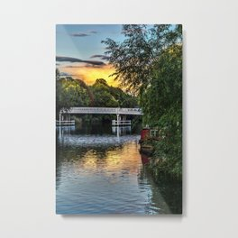 Above The Toll Bridge At Pangbourne Metal Print