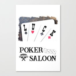 Welcome to the Poker Saloon Canvas Print