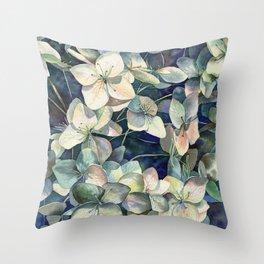 Summer hydrangea Throw Pillow