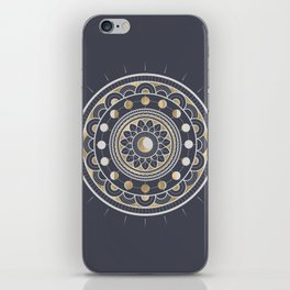Winter Moon Mandala iPhone Skin