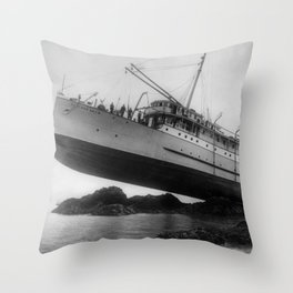 Shipwreck - SS Princess May - August 5, 1910 Throw Pillow