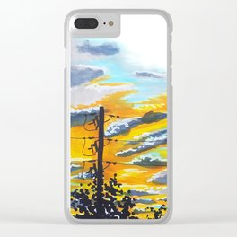 Suburban Sunset Clear iPhone Case