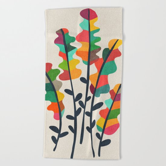 Flower from the meadow Beach Towel