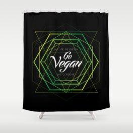 Vegan Geometry Shower Curtain