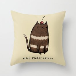 Black Forest Câteau Throw Pillow