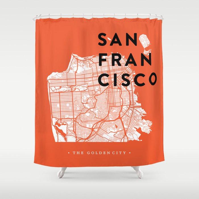 San Francisco Map 04 Shower Curtain