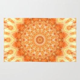 Mandala orange 2 Rug