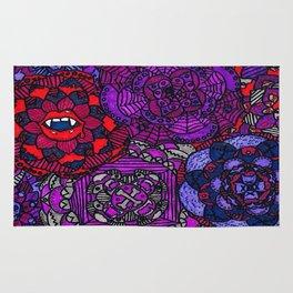 Spooky Flowers Rug