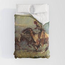 "Frederick Remington Western Art ""The Stampede"" Comforters"