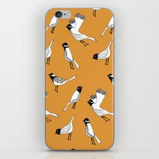 Bird Print - Orange iPhone Skin