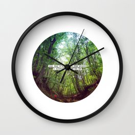 "Nice quote: ""One day I'll be at the place..."" Wall Clock"