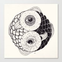 pisces Canvas Prints featuring pisces by NikaQ