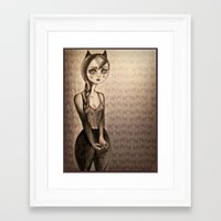 catwoman Framed Art Prints featuring Catwoman by Anna Kavehmehr