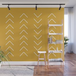 V / Yellow Wall Mural