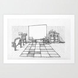 Whiteboard Art Print