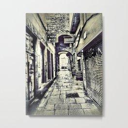 Narrow Streat, Temple Bar, Dublin, Ireland Metal Print