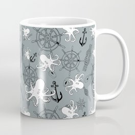 Grey Scattering Octopuses Coffee Mug