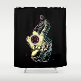 Space Enlightenment Shower Curtain