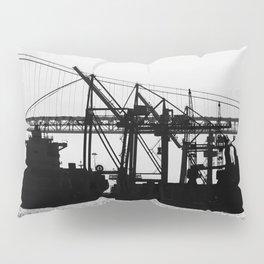 Metallic Architectures Docked Cargo Ships Pillow Sham