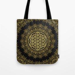 Flower Of Life Mandala Tote Bag