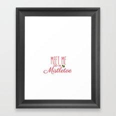 Meet Me Under The Mistletoe Red Framed Art Print
