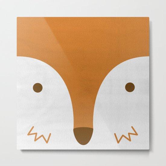 Mr Fleecy Fox Metal Print