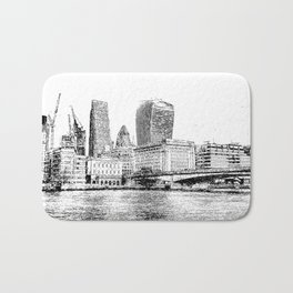 City of London Art Panorama Bath Mat