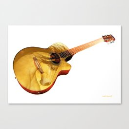 The guitar is a lady Canvas Print