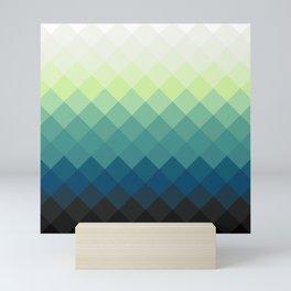 Elegant Blue-Green Mini Art Print