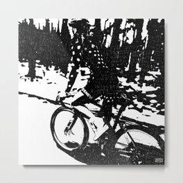 The Bike Rider Metal Print