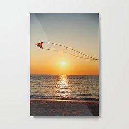 Beach Kite Metal Print