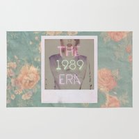 1989 Area & Throw Rugs featuring The 1989 Era by Lucia C