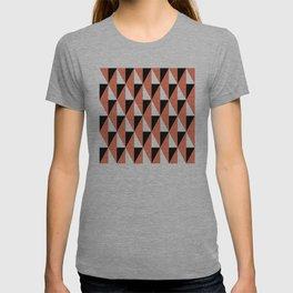 Geometric Pattern #78 (salmon pink triangles) T-shirt