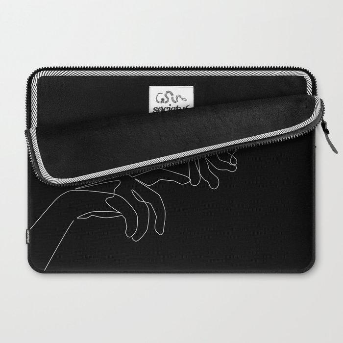 Touch in dark Laptop Sleeve
