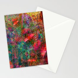The Dissonant Tolls of September Bells (abstract, psychedelic) Stationery Cards
