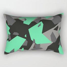 Black\Grey\Mint Camo Rectangular Pillow