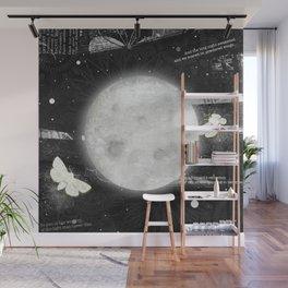 Moths on the Moon Wall Mural