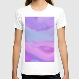 Modern abstract teal magenta violet watercolor pattern T-shirt