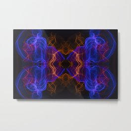 Abstract and symmetrical texture in the form of colorful smoke clouds. Metal Print